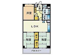 ライオンズマンション小笹第二[405号室]の間取り