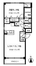 モンテローザ北斗町 3階1LDKの間取り