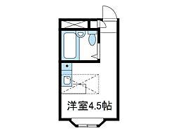 神奈川県伊勢原市桜台2丁目の賃貸アパートの間取り