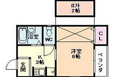 大阪府大阪市淀川区十三東4丁目の賃貸マンションの間取り