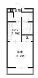 アムール宮崎[2階]の間取り
