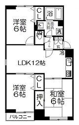 JR京浜東北・根岸線 大宮駅 徒歩15分の賃貸マンション 3階3LDKの間取り