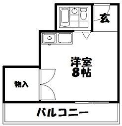 メブロ1[3階]の間取り