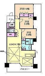 ライオンズマンション中津[10階]の間取り