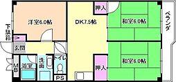 北田ハイツ[1階]の間取り