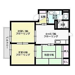 シャロームIIIC[2階]の間取り