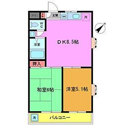 千葉県船橋市市場3丁目の賃貸マンションの間取り