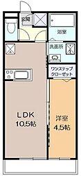 神奈川県川崎市宮前区有馬3丁目の賃貸アパートの間取り