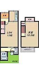 [テラスハウス] 大阪府堺市堺区四条通 の賃貸【/】の間取り