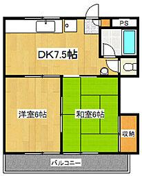 埼玉県鴻巣市人形2丁目の賃貸マンションの間取り