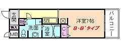 フェアステージ塚本[4階]の間取り