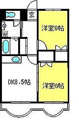 埼玉県さいたま市中央区円阿弥5丁目の賃貸マンションの間取り