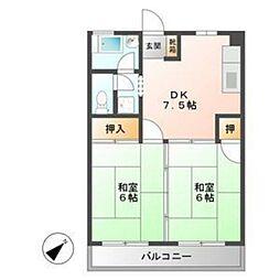 福岡県福岡市早良区飯倉7丁目の賃貸マンションの間取り