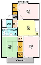 JR京浜東北・根岸線 大宮駅 徒歩23分の賃貸アパート 2階3DKの間取り