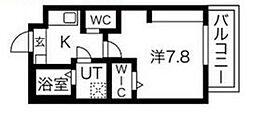 エヌエムキャトフヴァントワ 3階1Kの間取り
