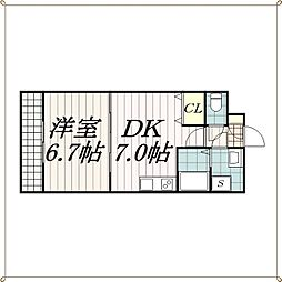 千葉県千葉市中央区今井1丁目の賃貸マンションの間取り