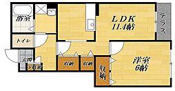 フォレストパーク・四番館[1階]の間取り