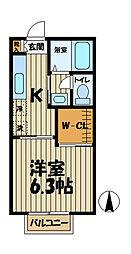インプレス鎌倉III[105号室]の間取り