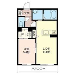 麻生区古沢ホテルライクマンション(仮) 3階1LDKの間取り