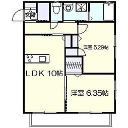Maison Platano[2階]の間取り
