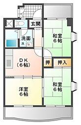 愛知県豊橋市西小池町の賃貸マンションの間取り