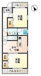 サニーコート230[1階]の間取り