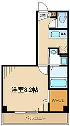 JR横浜線 八王子みなみ野駅 徒歩7分の賃貸アパート 2階1Kの間取り