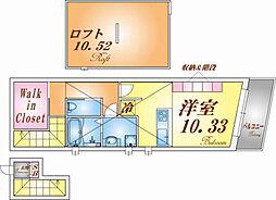兵庫県神戸市垂水区五色山4丁目の賃貸アパートの間取り