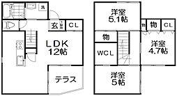 [一戸建] 大阪府交野市星田8丁目 の賃貸【/】の間取り
