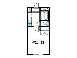 神奈川県海老名市国分北1の賃貸アパートの間取り