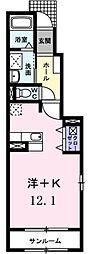 サンライズIIIA[1階]の間取り