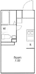 たすきCRASSO都立大学 A棟 地下3階ワンルームの間取り