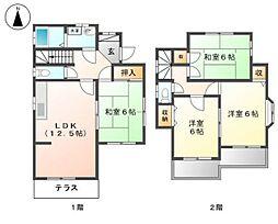 JR五日市線 東秋留駅 徒歩7分の賃貸一戸建て 1階4LDKの間取り