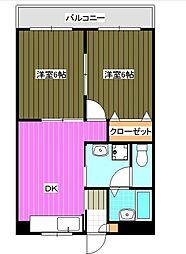 神奈川県横浜市南区弘明寺町の賃貸マンションの間取り