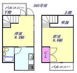 埼玉新都市交通 東宮原駅 徒歩5分の賃貸マンション 1階1LDKの間取り