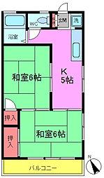 コーポキムラ[2階]の間取り