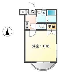 愛知県豊田市竹生町2丁目の賃貸マンションの間取り