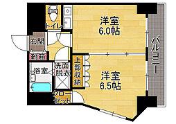 福岡県福岡市中央区警固1丁目の賃貸マンションの間取り