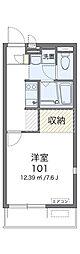 JR総武線 稲毛駅 徒歩11分の賃貸アパート 1階1Kの間取り