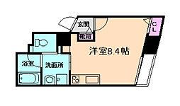 阪急宝塚本線 三国駅 徒歩3分の賃貸マンション 3階ワンルームの間取り
