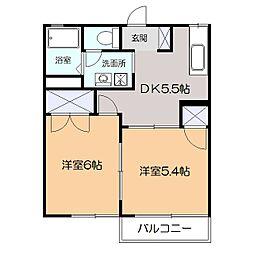神奈川県横浜市港北区綱島西4丁目の賃貸アパートの間取り