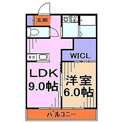 埼玉県川口市上青木西5-の賃貸アパートの間取り
