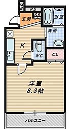 サンシーブル 三国ケ丘[3階]の間取り