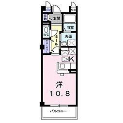 ヴェルーチェ蔵子[1階]の間取り