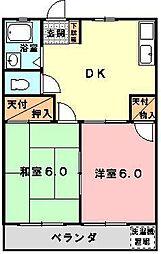 東京都立川市富士見町7丁目の賃貸マンションの間取り