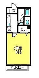 アパートメントK−3[2階]の間取り
