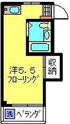 神奈川県横浜市港北区箕輪町3の賃貸マンションの間取り