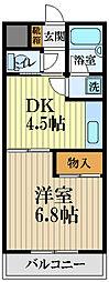 ビルディング栄 5階1DKの間取り