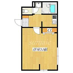 パラッツオ・モデルノ[1階]の間取り