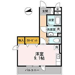 ラマージュV[3階]の間取り